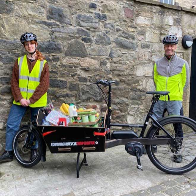 Our cargo bike loan to Streetwork
