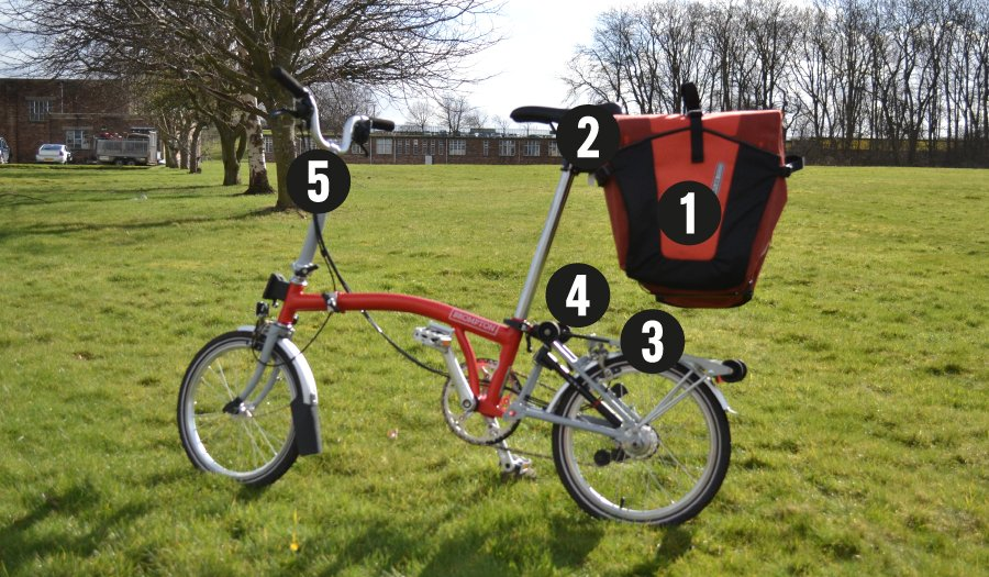 How to go touring with a folding bike