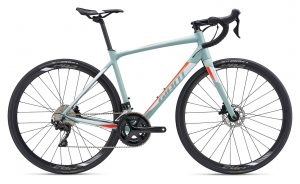 Giant Contend SL 1 Disc 2019 Road Bike in Matte Grey Green | Best Carbon Road Bikes