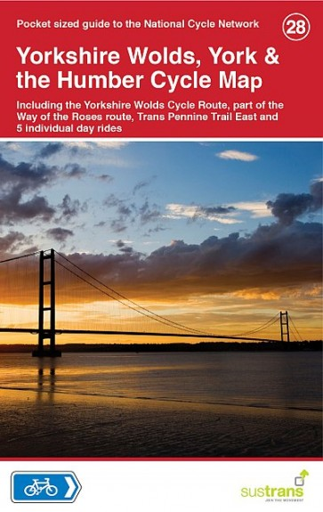 Sustrans Cycle Map 28 Yorkshire Wolds, York & Humber