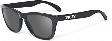 Oakley Frogskins Sunglasses Polished Black Frame Warm Grey Lens