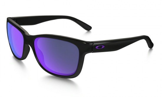 Oakley Forehand Sunglasses Polished Black Frame/Violet Iridium Lens