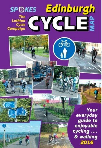Spokes Cyclists' Map of Edinburgh 2016 Edition