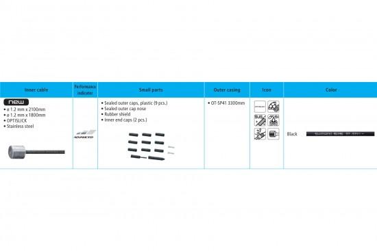 Shimano XT M8000 Gear Cable Set