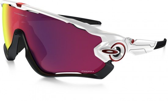 Oakley Jawbreaker Sunglasses Polished White Frame/Prizm Road Lens