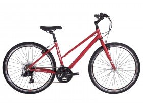 Raleigh Strada 1 Women's Hybrid Bike in Raspberry Red