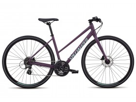 Specialized Sirrus Disc 2018 Women's Step Through Hybrid Bike in Purple