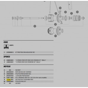 Mavic Ratchet Kit 2X ID360 Ratchets & Spring (V22517)