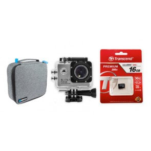 Silverlabel Focus Action Camera 1080P Bundle