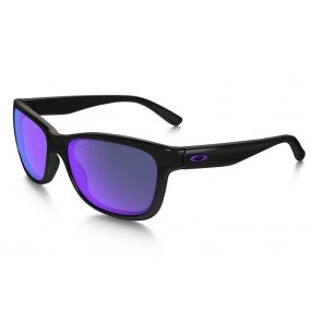 Oakley Forehand Sunglasses Polished Black Frame/Violet Iridium Lens