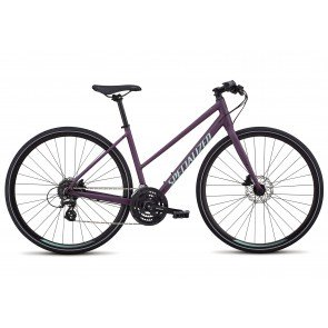 Specialized Sirrus Disc 2018 Women's Step Through Hybrid Bike in Purple