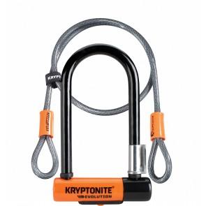 Kryptonite Evolution Mini 7 U-Lock With 4-Foot Kryptoflex Cable