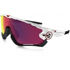 Oakley Jawbreaker Sunglasses Polished White Frame/Prizm Road Lens