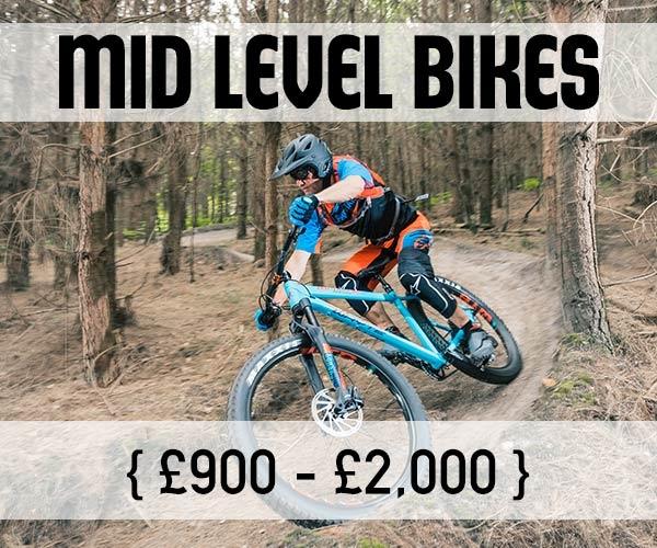 Mid level mountain bikes